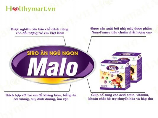Có Malo Siro giúp bé ngủ ngon, ăn ngon bố mẹ không còn phải lo lắng nữa