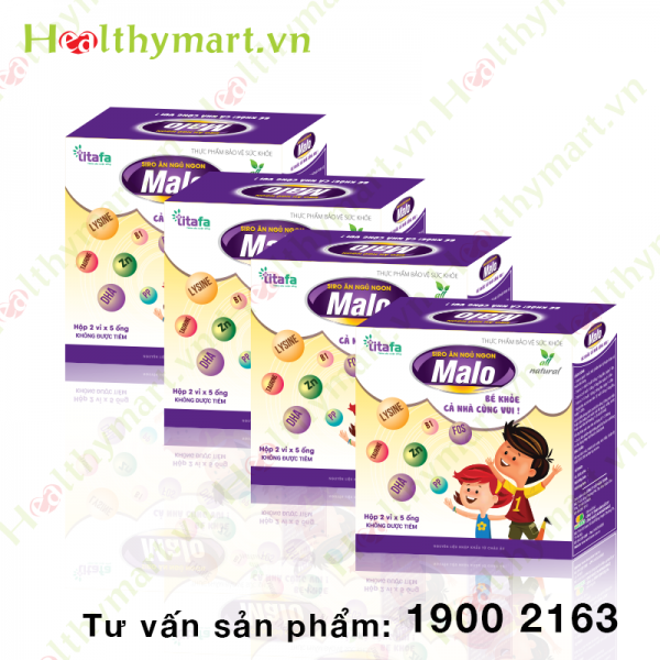 Combo 4 hộp siro ăn ngon Malo - Xua tan biếng ăn ở trẻ nhỏ