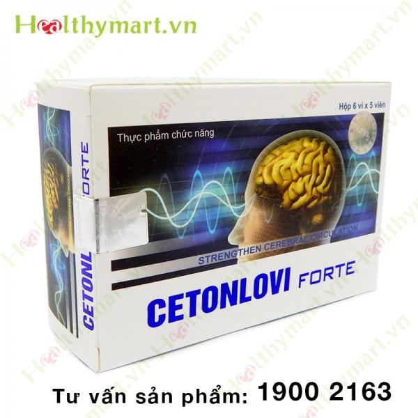 CETONLOVI Forte - Tăng cường tuần hoàn não, ngừa tai biến mạch máu não