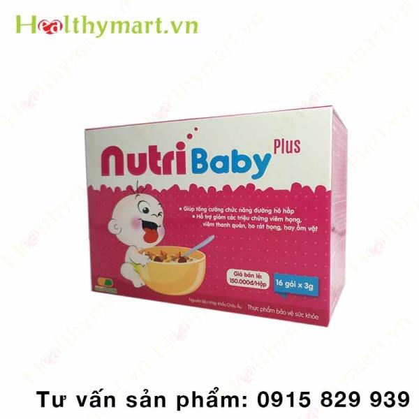 NutriBaby Plus - tăng cường chức năng đường hô hấp cho trẻ