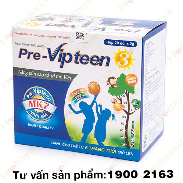PRE VIPTEEN 3 - Chống còi xương, hỗ trợ phát triển chiều cao