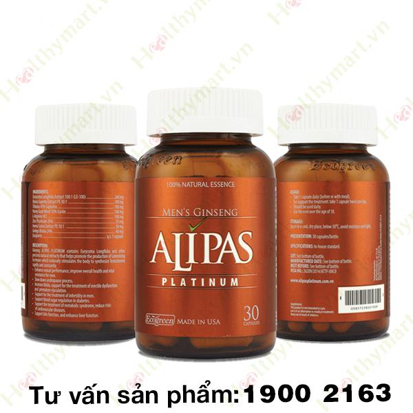 Sâm Alipas Platinum - Tăng cường sức khỏe sinh lý nam