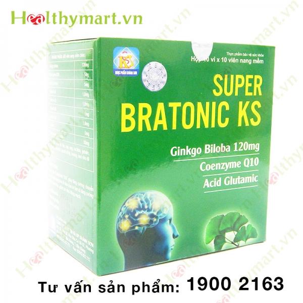 Super Bratonic KS – Bổ sung Coenzyme Q10, tăng tuần hoàn máu não