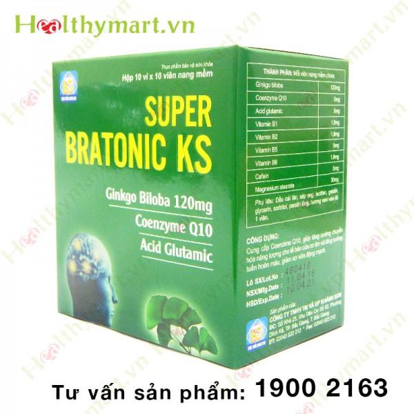 Super Bratonic KS – Bổ sung Coenzyme Q10, tăng tuần hoàn máu não - 1